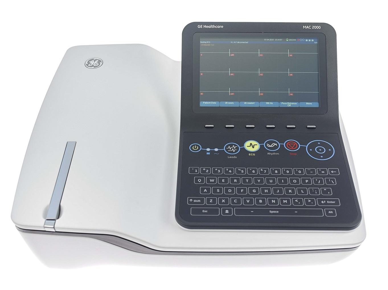 ge mac 2000pc portable resting ecg machine numed healthcare. Black Bedroom Furniture Sets. Home Design Ideas